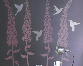 Hummingbird Stencils for Walls - 3 HUMMINGBIRDS - Wall STENCILS - Reusable - DIY - Great for kids
