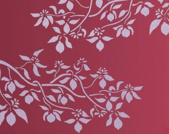 Stencil for Walls - LEMON Tree Branch - Large Wall Stencil - Reusable Wall ART - Home DECOR