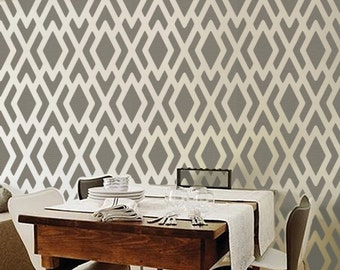 STENCIL for Walls - Geometric Pattern no. 1 - Reusable Allover Pattern stencil