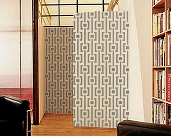 Geometric Wall STENCIL - MOD Pattern -Large, Reusable Modern Wall Stencil - Easy DIY Home Decor