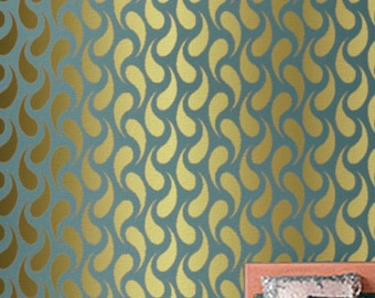 STENCIL for walls - CHAINMAIL Pattern - Modern Wall Stencil - Easy, Reusable DIY Wall Decor