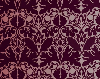 Damask Stencil - William Morris ACANTHUS SILK - Reusable stencil for walls - DIY Home Decor
