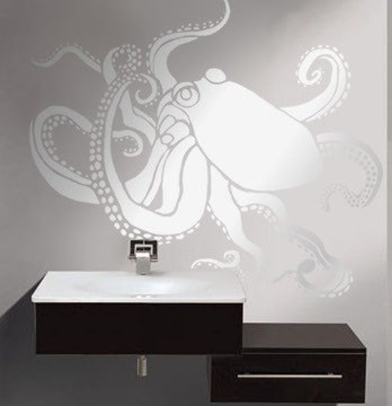 Stencil for Walls - Large OCTOPUS - Wall STENCIL, Reusable - DIY Home Decor/Wall Decor
