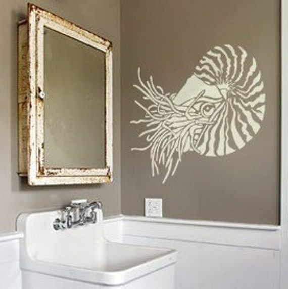 Stencil Art For Walls nautilus stencil for walls nautilus shell reusable wall