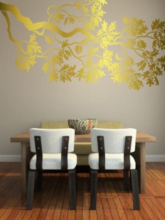 Wall Stencil - Large OAK Branch- Reusable Wall STENCIL - DIY Wall Art -5 Ft. Long