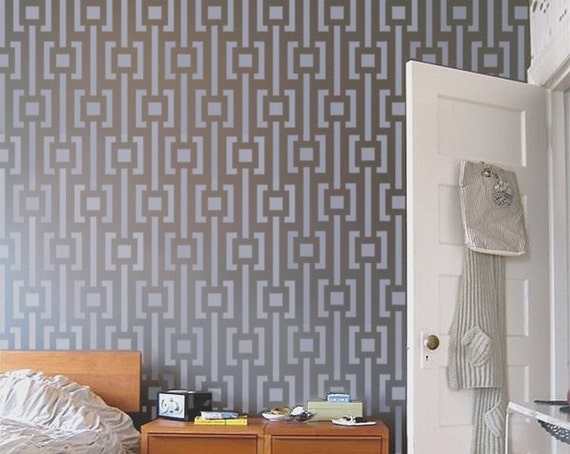 Wall STENCIL Modern Pattern Reusable MOD Stencil for walls