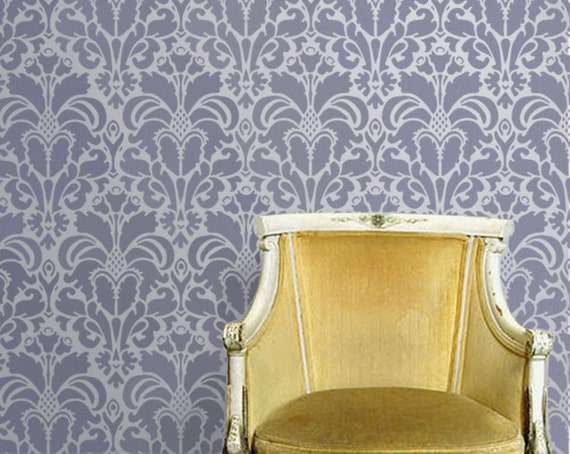 Stencil For Walls Damask No 1 Wall Stencil Reusable