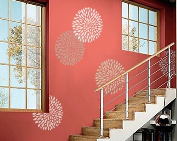 Schablone Blume Wand Schablone Für Wände