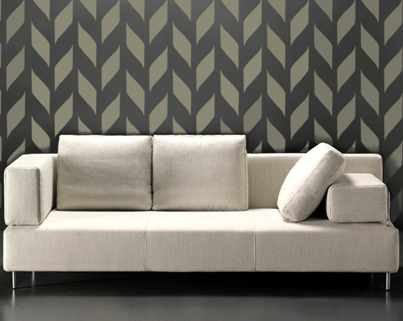 Stencil For Walls Modern Chevron Allover Wall Stencil