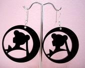Sailor Moon Earrings - Black Silhouette