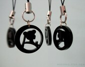 Sailor Moon Phone Charm - Black Silhouette