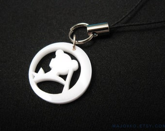 Sailor Moon Phone Charm - White Silhouette