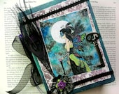 "Altered Journal Collage Fairies Fantasy Peacock ""Midnight Masquerade"""