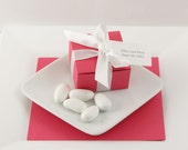 Raspberry Wedding Favor Boxes - Magenta Favor Boxes