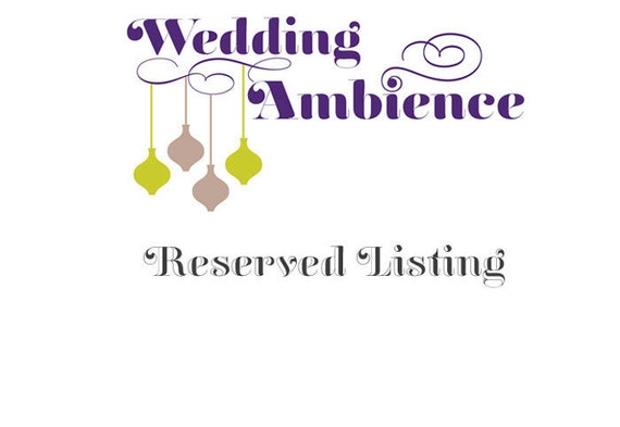 Reserved Listing for Shelly Mendes