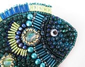 SALE Fish Tales Beaded Brooch