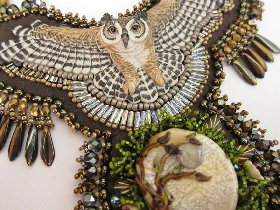 Night Owl Bib Necklace - RESERVED FOR TAMMARA