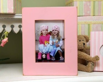 """5x7 Gallery 2"""" border picture frame - Petal Pink"""