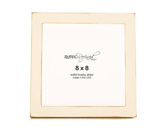 "8x8 Gallery 1"" picture frame - White"
