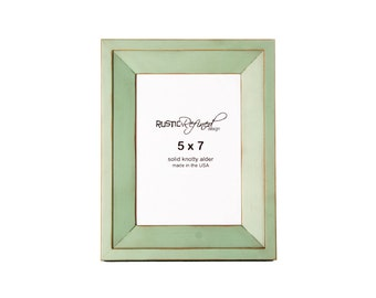 5x7 Haven picture frame - Sea Foam