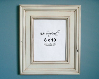 8x10 Tahoe Picture Frame - White