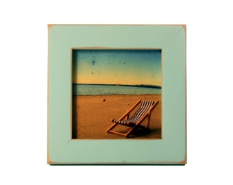 "4x4 1"" Gallery Picture Frame - Sea Foam - Free Shipping - Solid Wood - Hand Made in USA"