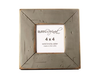 4x4 Cabin picture frame - Gray Green, Free Shipping