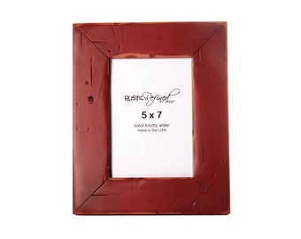 5x7 Cabin picture frame - Barn Red