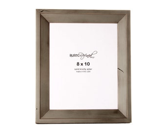 8x10 Haven picture frame - Gray Green, Free Shipping