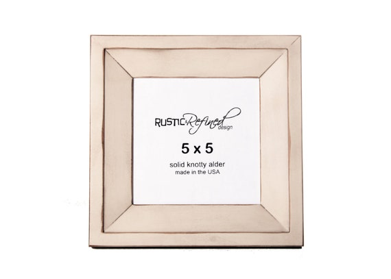 5x5 Haven picture frame - White