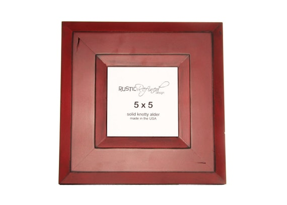 5x5 Canyon picture frame - Barn Red