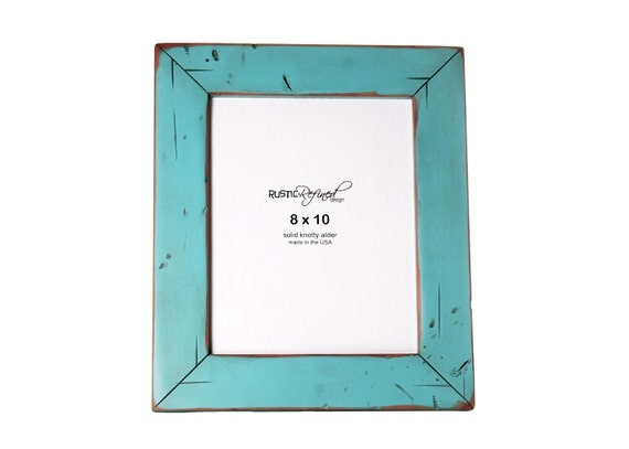 8x10 Cabin picture frame - Turquoise