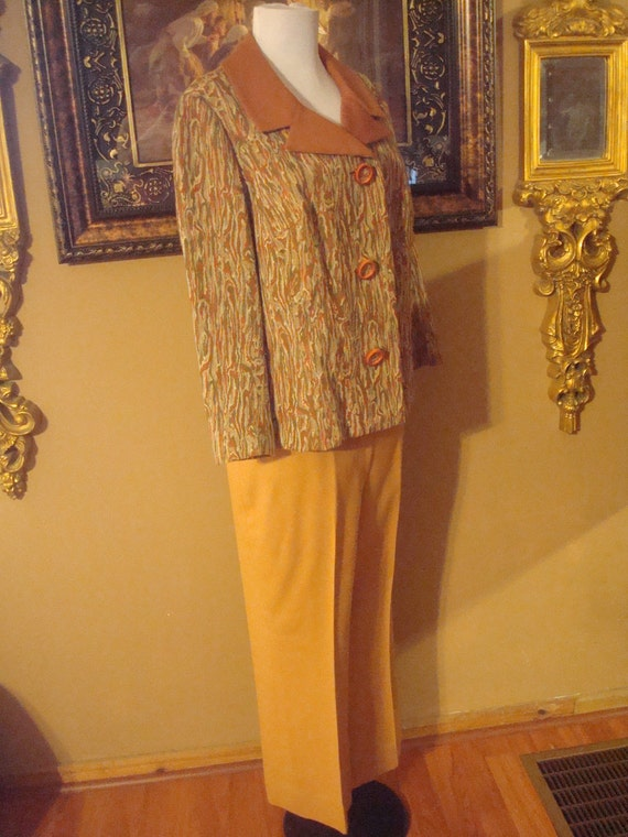 Vintage Town and Country two piece pants suit.