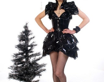 Plus Size   Pvc   BURLESQUE  Bustle Skirt  and Shrug SET goth STEAMPUNK. by Gothic Burlesque
