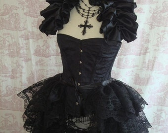 Lace Burlesque Bustle Skirt Gothic STEAMPUNK BUSTLE By Gothic Burlesque