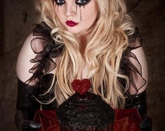 GENIVIVRE  Ruffle Opera Shrug STEAMPUNK Burlesque Showgirl