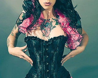 Pink Enchantment   Burlesque Opera Shrug   PIN UP  Showgirl By Gothic Burlesque