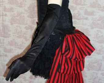SALOON GIRL  Long Burlesque  Luxe Cirque Saloon Bustle STEAMPUNK