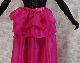 SALOON GIRL   Long Burlesque  Luxe Saloon Bustle By Gothic Burlesque