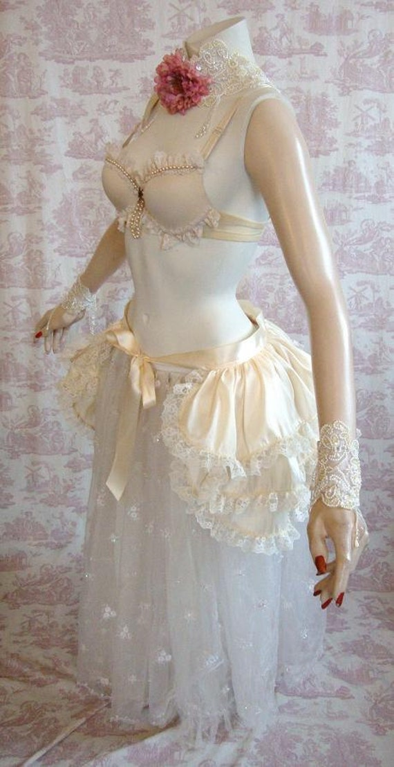 SERENE Taffeta BURLESQUE  Bustle Skirt  STEAMPUNK