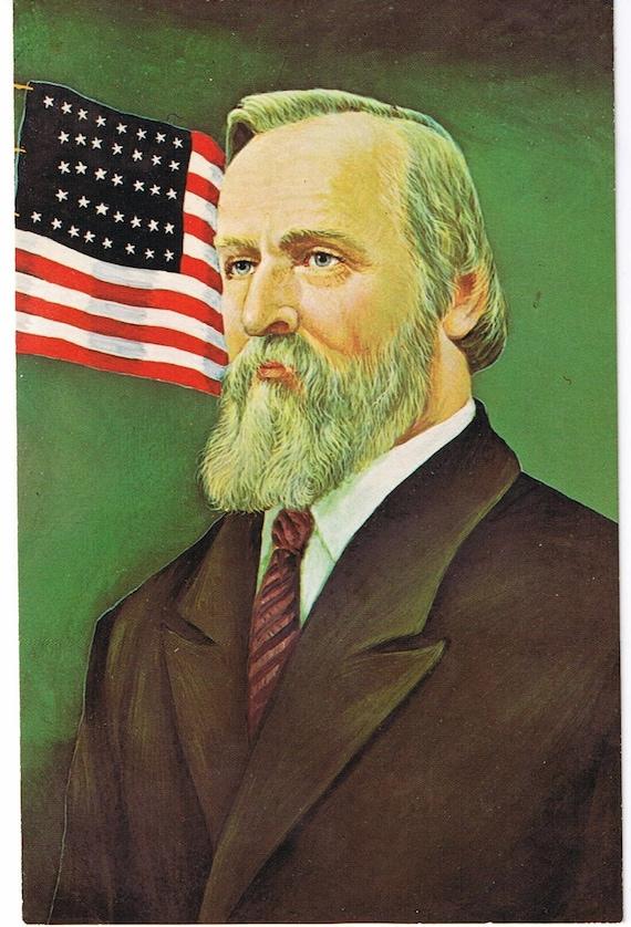 Vintage President Postcard Rutherford Hayes by Morris Katz