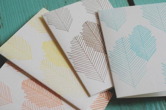 Leaf Letterpress Notecards