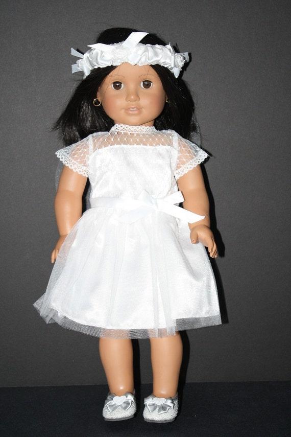 American girl first communion or wedding dress and veil by for American girl wedding dress