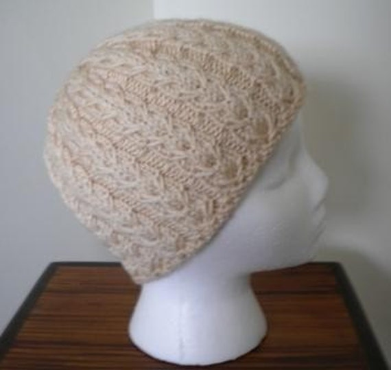 Mock Gull Stitch Toque Hat - cashmere blend