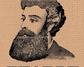 Digital Download Transfer Image Iron On T-Shirt Bags Hats Cards Towels Altered Art Vintage Giant Beard (145)