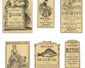 Antique Apothecary Labels Digital Download Vintage Pharmacy Druggist Drugstore General Store Perfume Potion Oil Spice Bottles Jars Old (106)