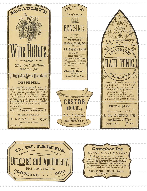 Digital Download Collage Sheet Antique 1800's Vintage