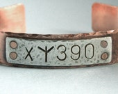 Azkaban Cuff Bracelet - Sirius Black - Hand Stamped Sterling Silver and Copper