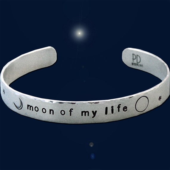 Moon of My Life - Game of Thrones Sterling Silver Cuff Bracelet - Hand Stamped - Five Sixteenths Inch