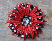 Large Red and Polka Dots Flower